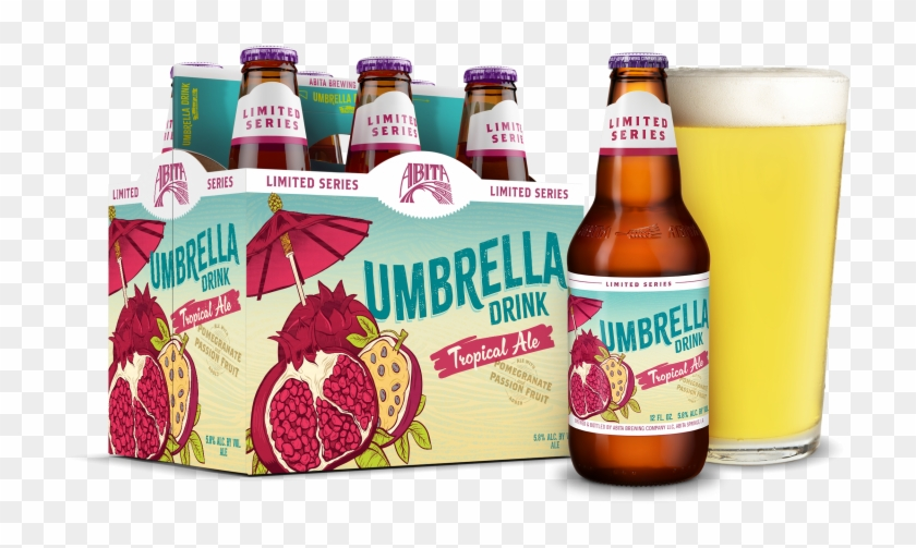 Umbrella Drink - Abita Beer - Glass Bottle Clipart #3644900