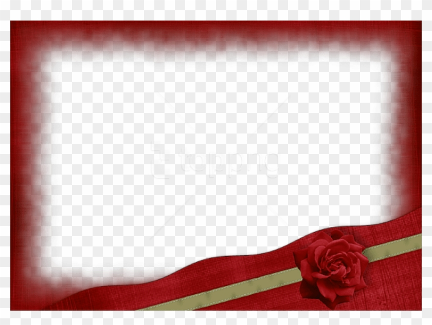Free Png Beautiful Red Transparent Frame With Gold - Maroon Ribbons Borders And Frames Clipart #3660834