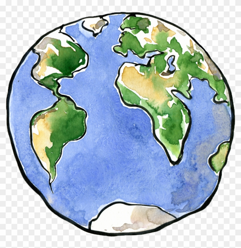 Earth Drawing Planet Clip - Illustration Planet Earth Png Transparent Png #3661452