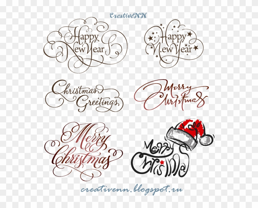 Word Art Digital Stamps Free Merry Christmas надписи Happy