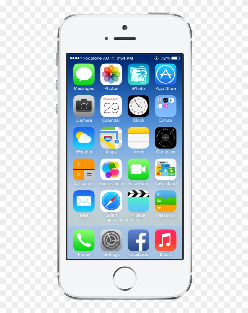 Iphone Home Screen Png - Iphone 5c Price In Kuwait Clipart #3665945
