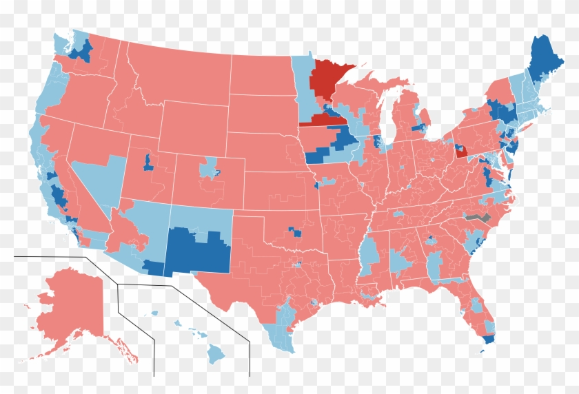 2018 Us House Election Results - Map Of Us Black Clipart #3670184