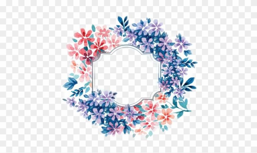 Coronas De Flores, Carpeta, Sellos, Etiquetas, Marcos, - Transparent Background Blue Watercolor Flower Clipart #3673432