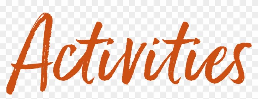 Kootenay Huts - Activities - Png - Calligraphy Clipart #3676967