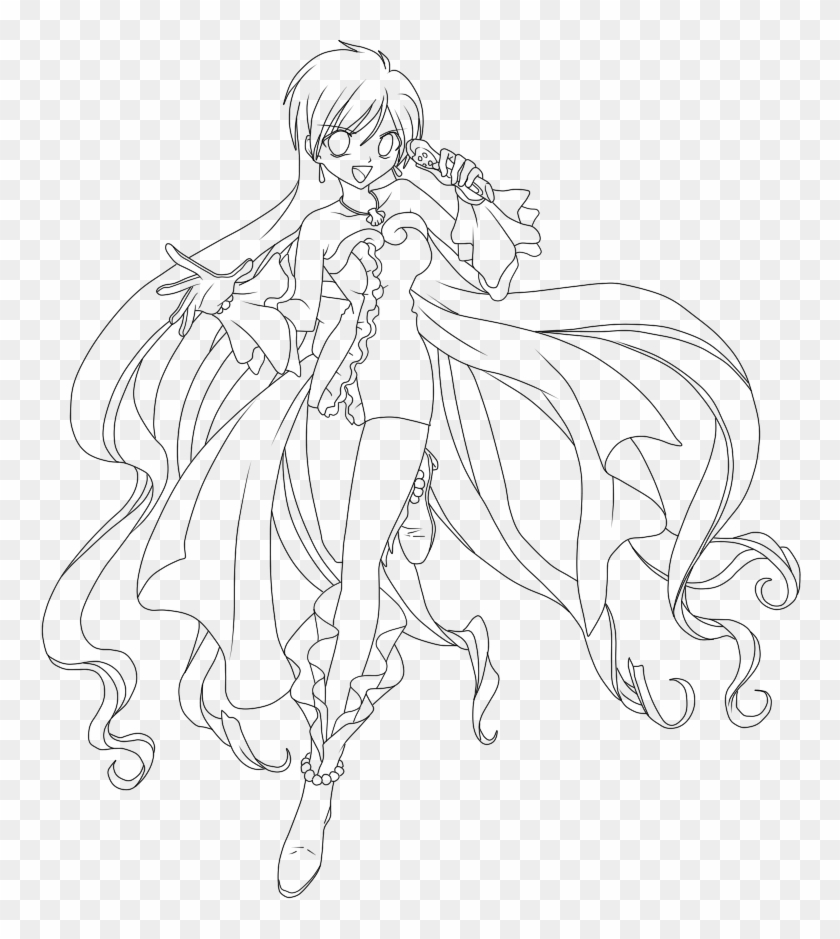 Mermaid Melody Rina Coloring Pages 6 By Tina Pichi Pichi Pitch Drawing Clipart 3684273 Pikpng