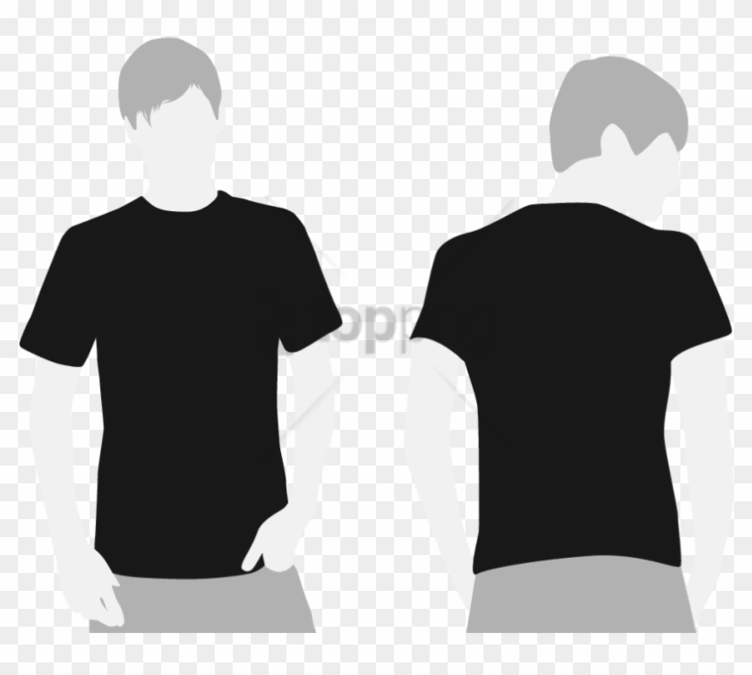 Free Png T Shirt Front And Back Png Images Transparent - Black T Shirt Template Png Clipart@pikpng.com