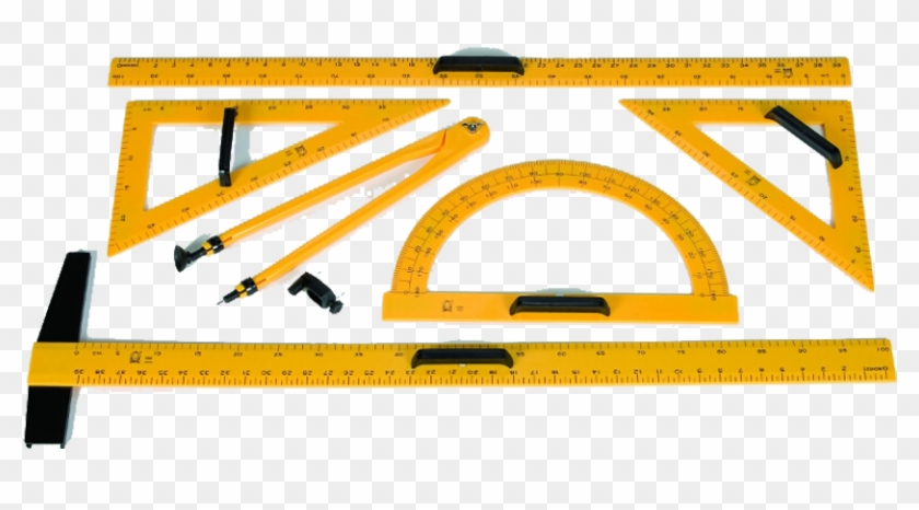 Si Manufacturing Meter Stick Graduated In Cm And Inches - Drafting Tool Bin Clipart #3687956