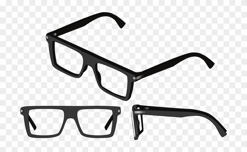 Although They Are Quite Similar To Wayfarers And Squares, - Straight Line Eyeglasses Clipart #3688733