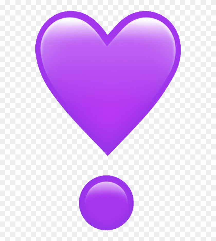 Purple Emoji Heart Freetouse Freetoedit Remixit Remixme - Emoji Heart Iphone Png Clipart #370861
