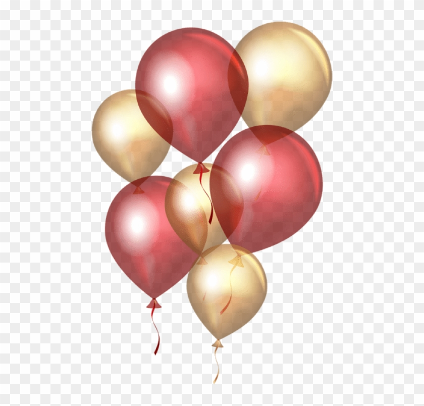 Free Png Transparent Red Gold Balloons Png Png Images - Balloon Transparent Background Golden Clipart@pikpng.com
