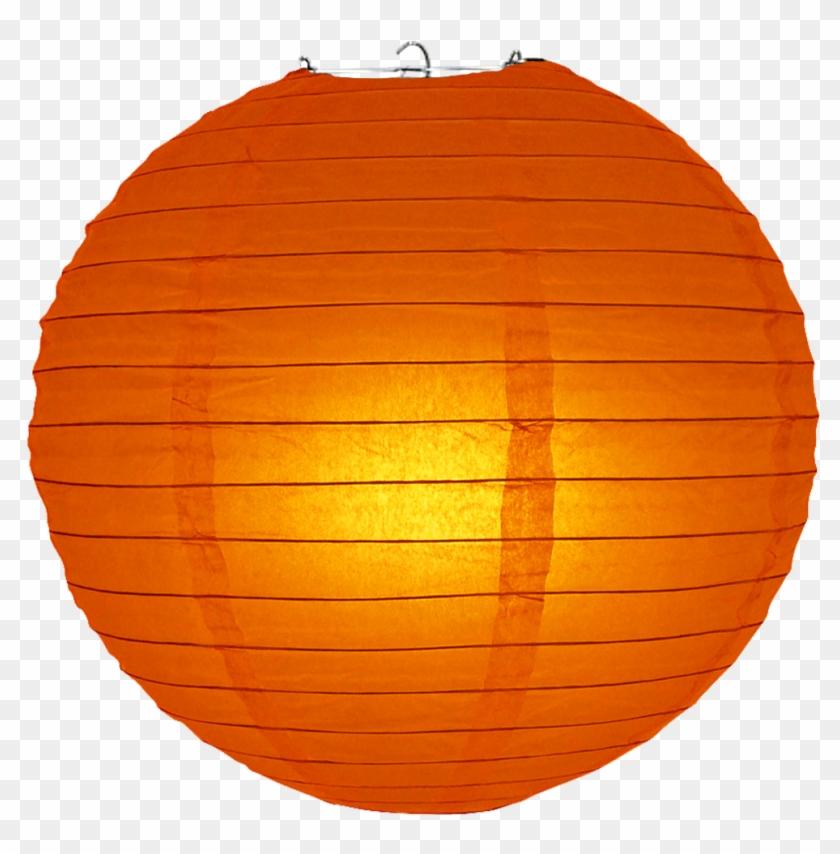 Red Orange Ribbed Paper Lanterns Clipart #377056