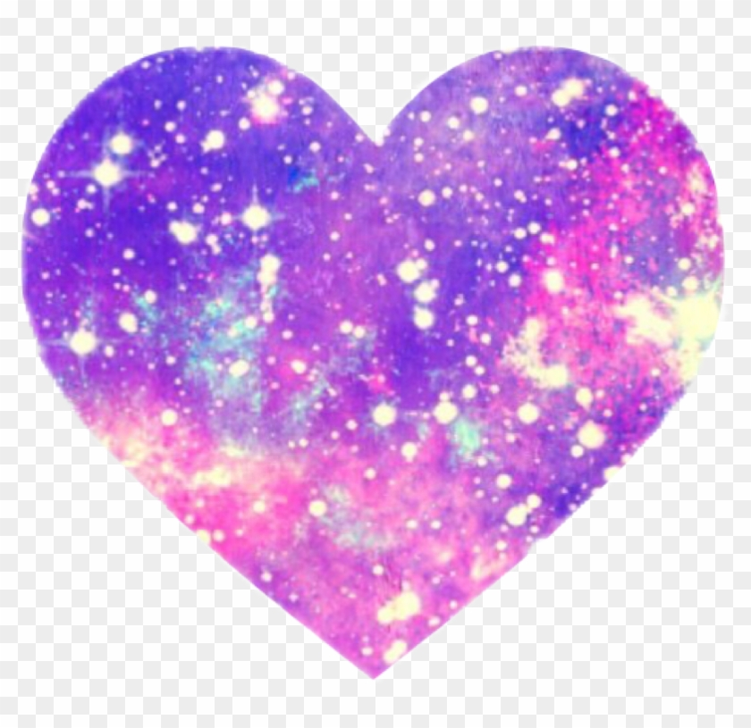 Galaxy Sparkles Pink Love Sparkle Heart Vector Black - Clip Art - Png Download #378620