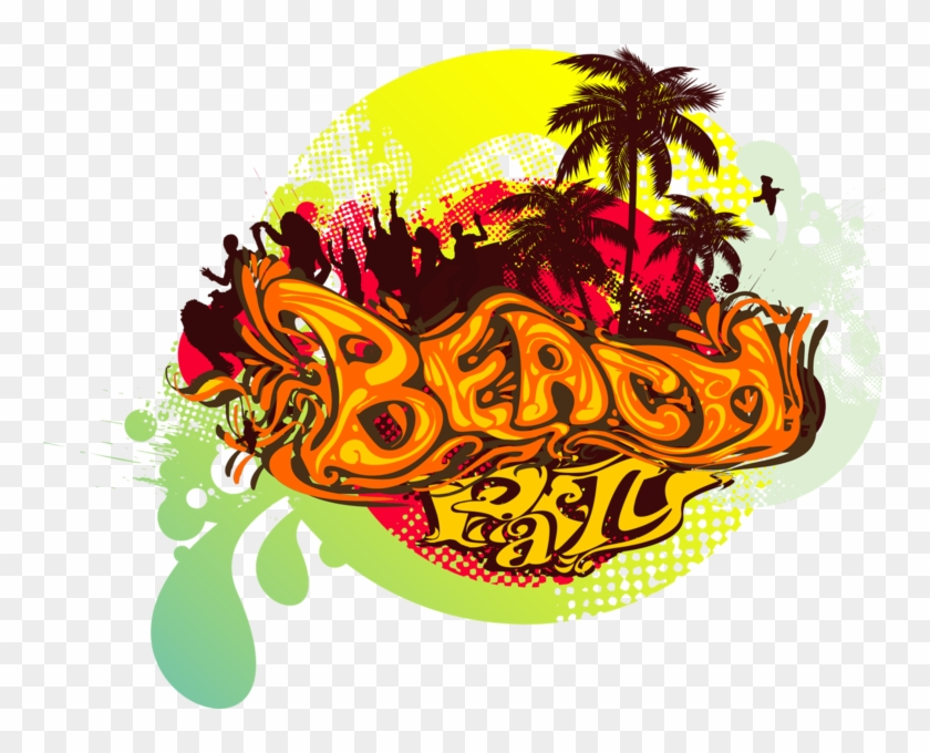 Beach Party Transparent Beach Party Logo Clipart 3704443 Pikpng