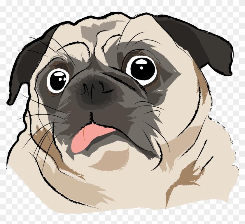 Art With Ai - Dog Pug Cartoon Png Clipart #3708959