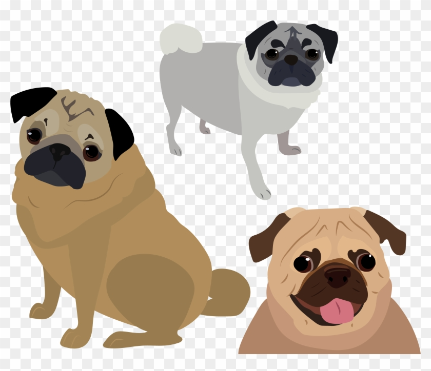pug vector pug clipart 3709068 pikpng pug vector pug clipart 3709068