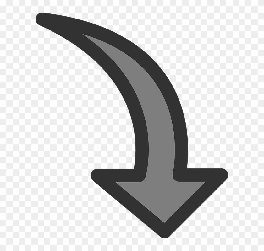 Flecha, Rotar, La Rotación, Abajo - Rotate Arrow Clipart - Png Download #3712044