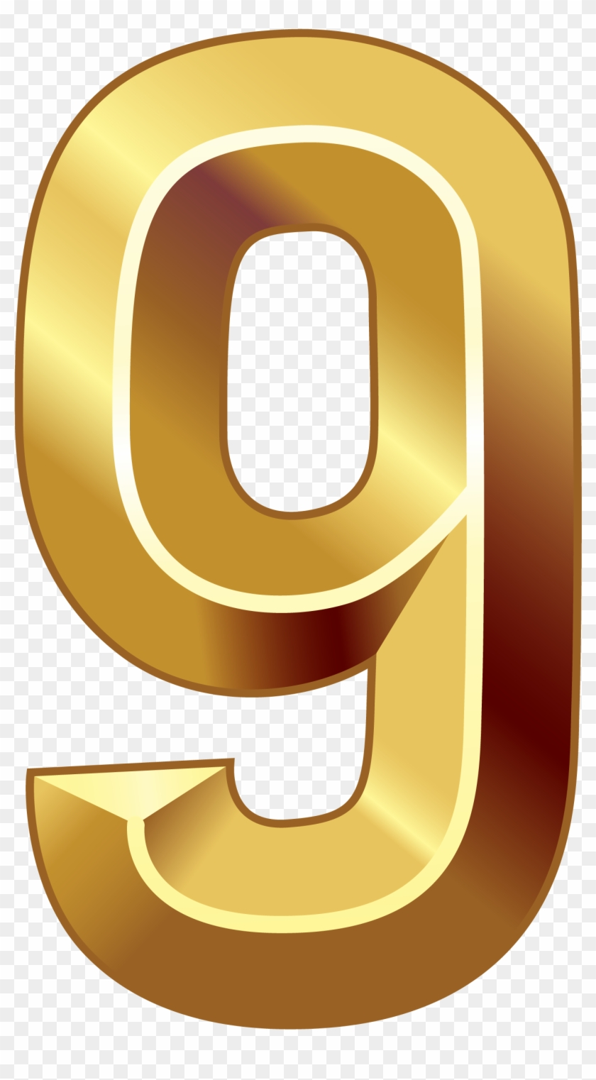 Gold Nine Png Image Gallery Yopriceville High Ⓒ - Golden Number 0 Png Clipart #3714175