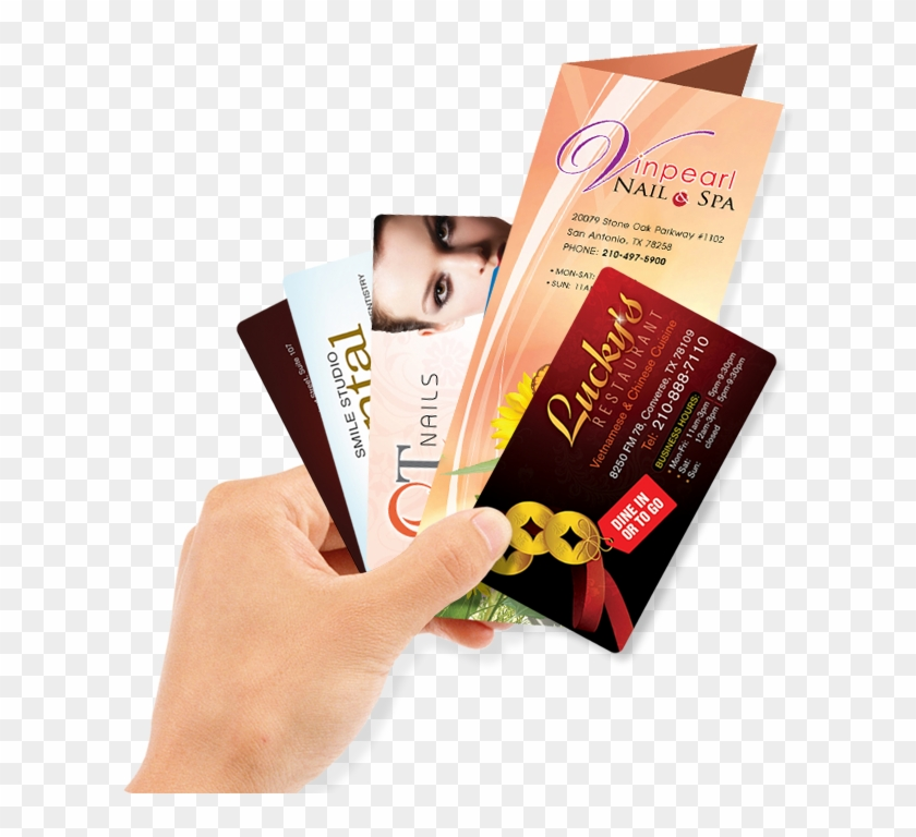 Nhận Thiết Kế & In Ấn Các Loại Business Cards, Brochures, - Business Card On Hand Png Clipart #3723983