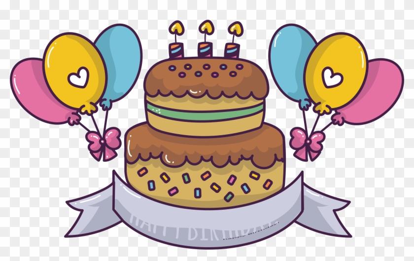 Torte, Birthday Cake, Chocolate Cake, Cuisine Png Image - Cute Birthday Cake Cartoon Clipart #3730519