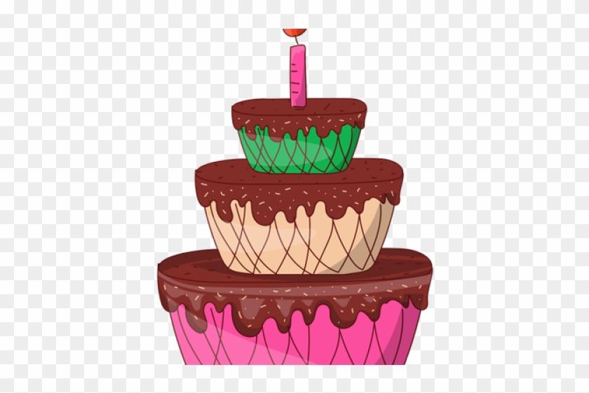 Birthday Cake Cartoon - Birthday Cake Clipart #3730700