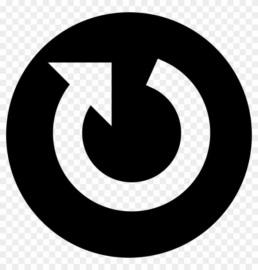 Circular Arrow In A Circle Comments - White Circle Arrow Icon Clipart #3733027