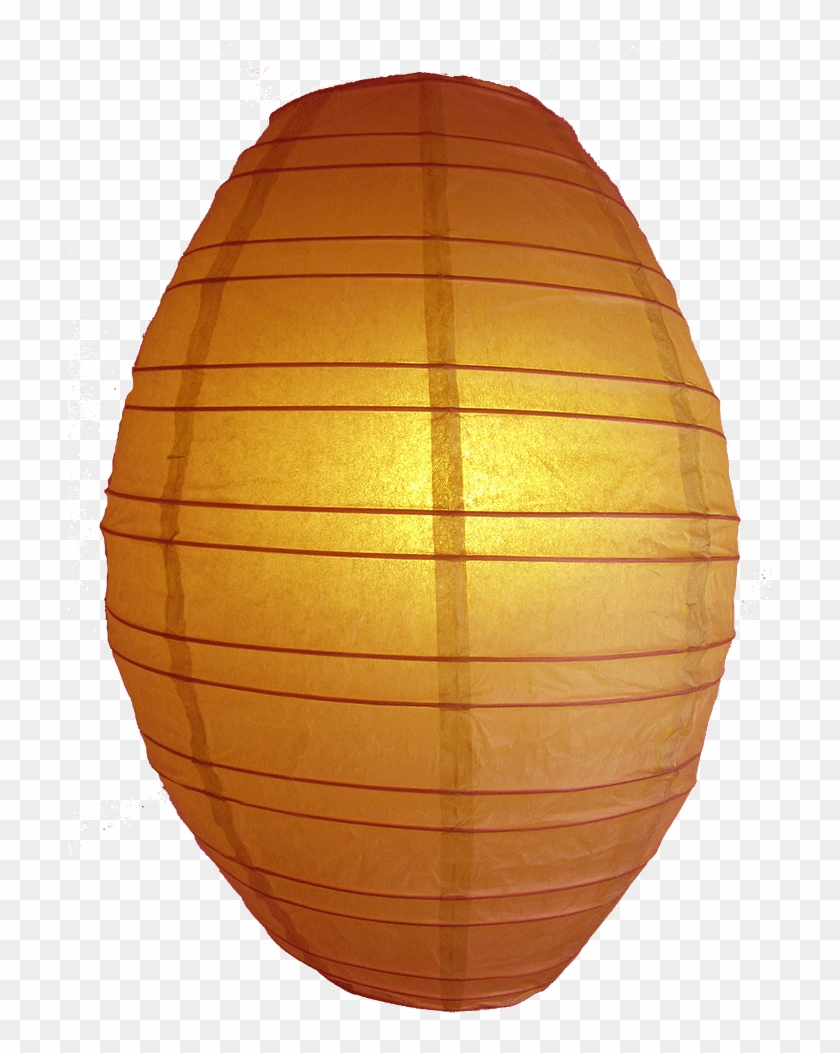 Olive Shaped Lanterns Orange - Lampshade Clipart #3733265