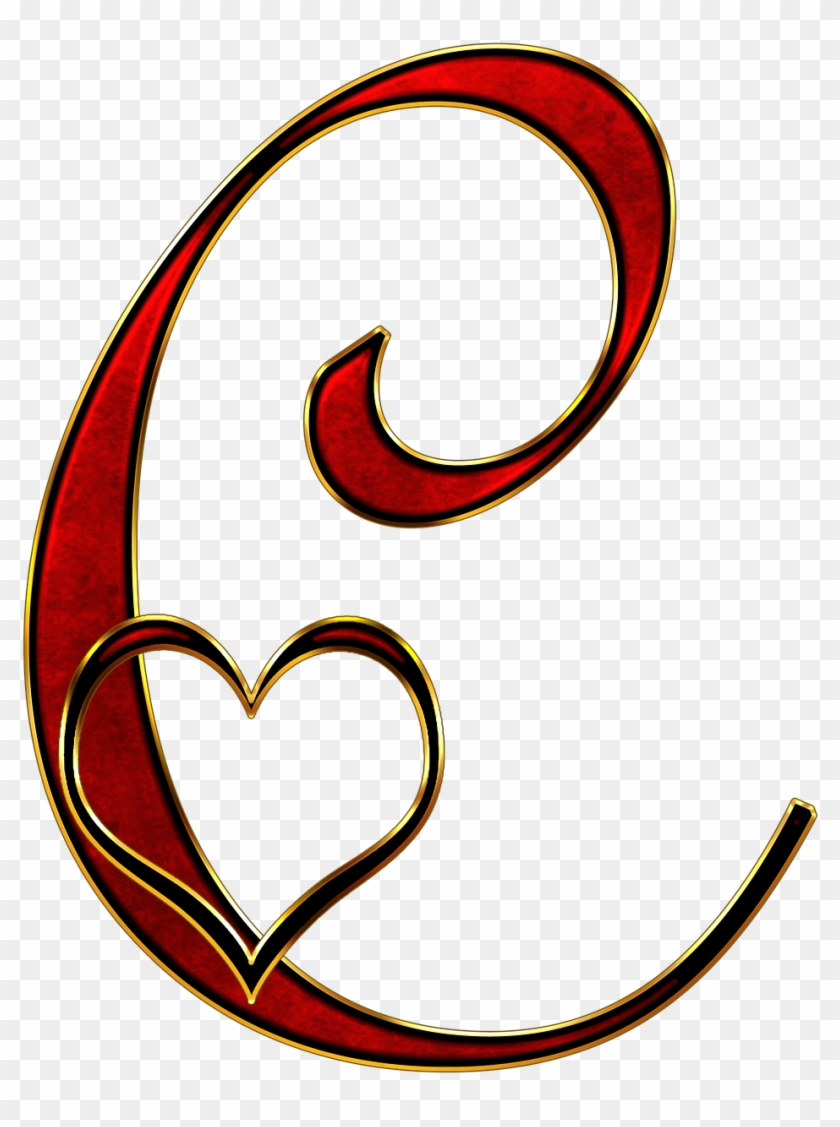 C Designs Letters With Hearts Clipart #3736787