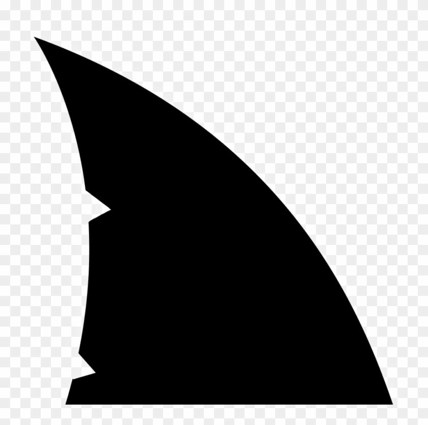 Shark Fin, Shark Party, Silhouette Cameo, Cricut, Clip - Shark Fin Png Transparent Png #3743141