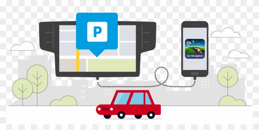 We Know 60 Million Parking Places Where You Can Leave - Iphone Clipart #3745120