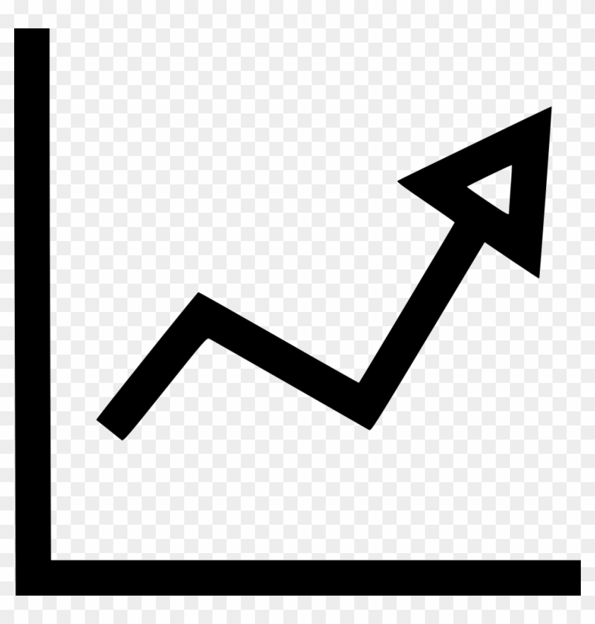 Arrow Graph Up Business Comments - Growing Stock Icon Clipart #3760918