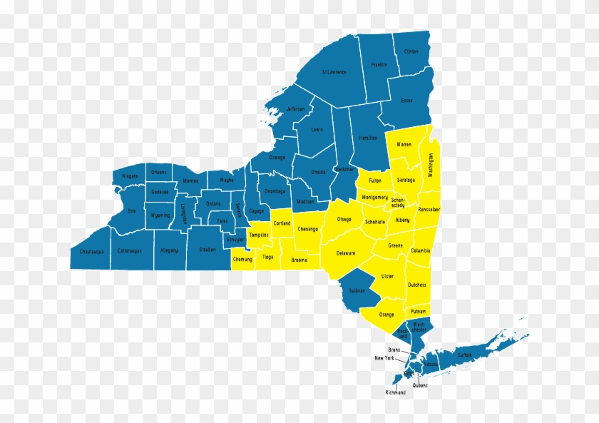 Vector Map Of New York Sate - New York State Assembly Maps Clipart #3766952