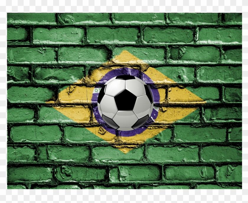 Soccer Brazil Wall Goalie Flag Football Sport - National Anthem Of India Clipart #3771254