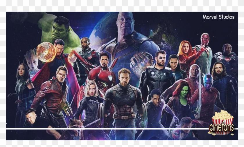 Todos Os Vingadores Junto Com Thanos Promovendo O Vingadores - All Avengers Character Poster Clipart #3774021