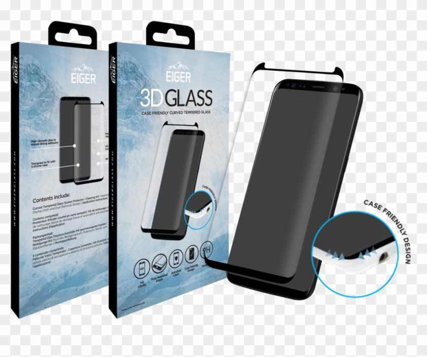 Eiger 3d Glass Screen Protector - Samsung S8 3d Glass Clipart #3776241