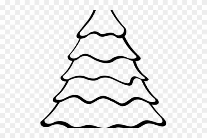 Big Christmas Tree Easy Drawing Clipart #3777371