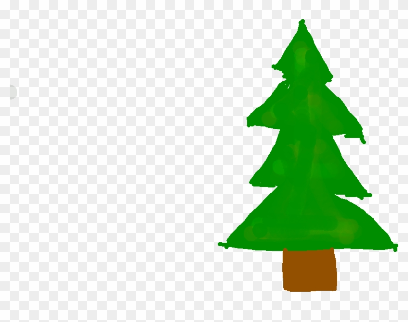 Drawing - Drawing - Christmas Tree Clipart #3777403