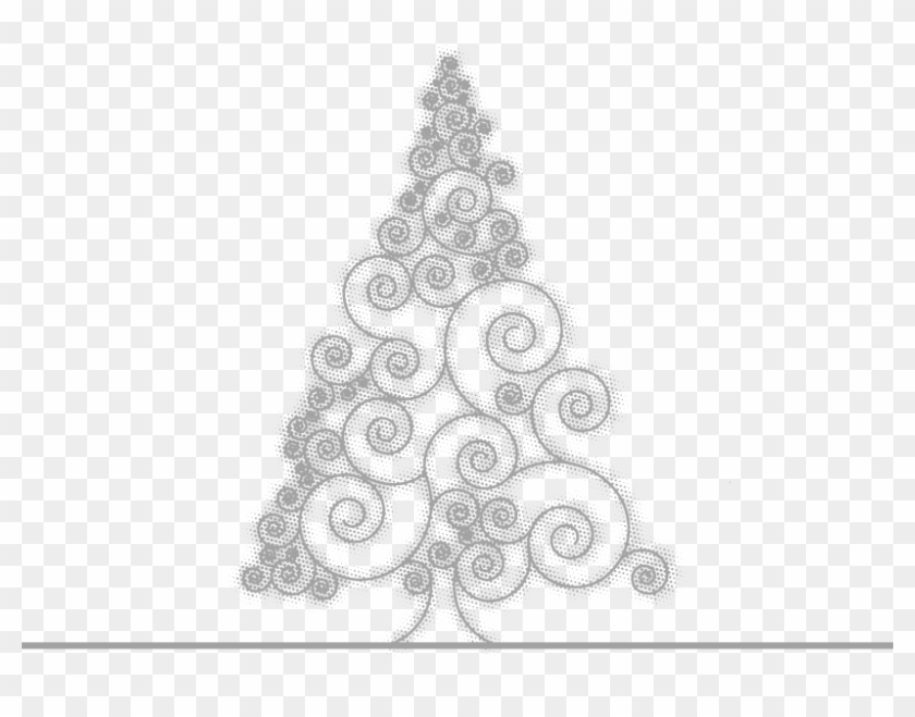 Drawing Grey Painted Sketch Pattern - Sketch Of Christmas Tree Design Clipart #3777701
