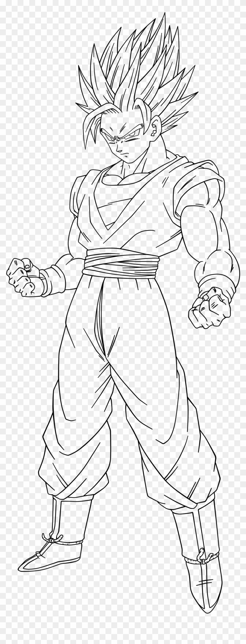 Collection Of Free Forearm Drawing Buff Download On Dragon Ball Z Goku Full Body Drawing Clipart 3777966 Pikpng