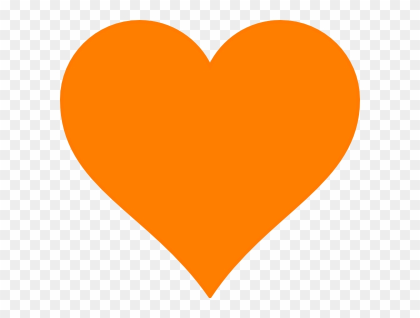 Heart And Angel Wings Png - Orange Heart Emoji Discord Clipart #3785184
