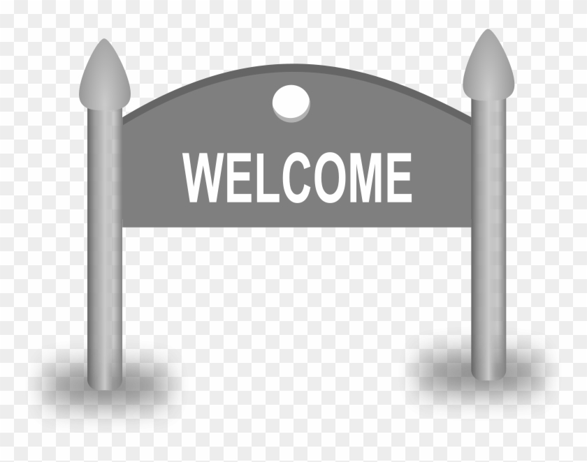 Welcome Sign Clip Art Free Clipart Welcome Sign Board - Welcome Sign Clip Art - Png Download #3786517