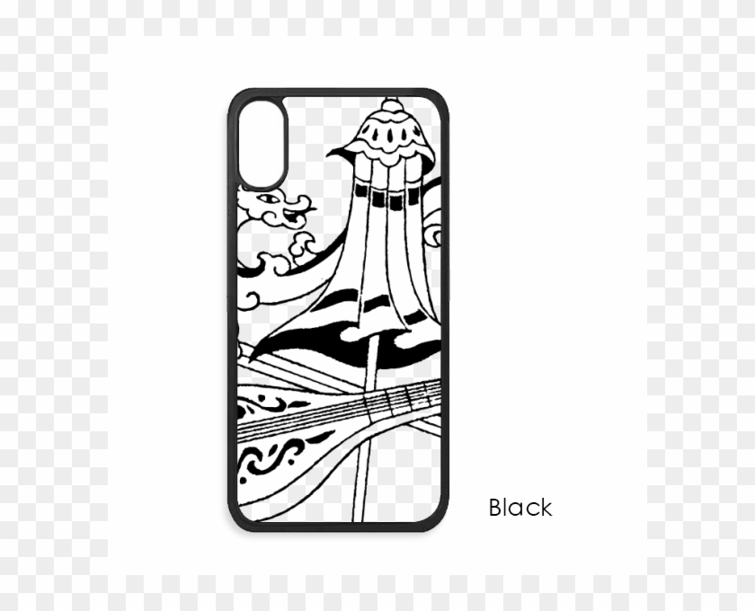 Chinese Umbrella Sword Dragon Drawing For Iphone X - Mobile Phone Case Clipart #3789804