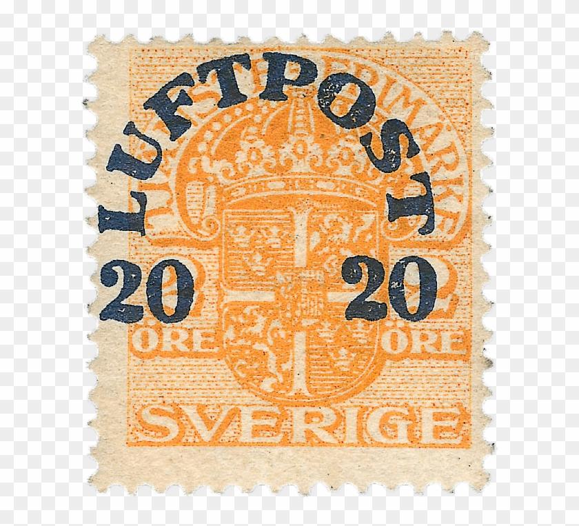 20ö On 2ö Orange Air Post Stamp, - Stamp De Sverige Clipart #3797527