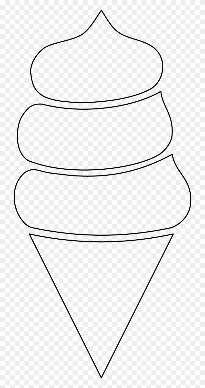 Coussin Crème Glacée Line Art Clipart 3798658 Pikpng