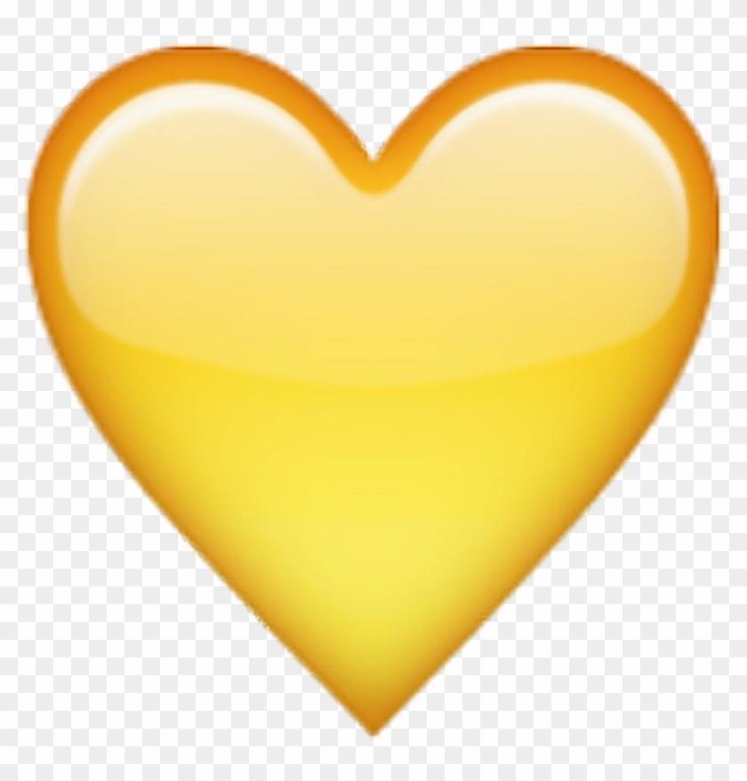 Yellow Tumblr Heart Emoji - Yellow Heart Emoji With Black Background Clipart #381084