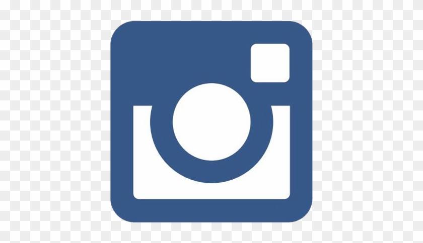 Instagram Logo Png Transparent Find Us On - Instagram Logo Png Blue Clipart #381273