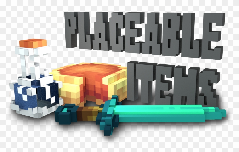 Placeable Items Minecraft Mod The Goal - Minecraft 3d Rotating Block Clipart #384078