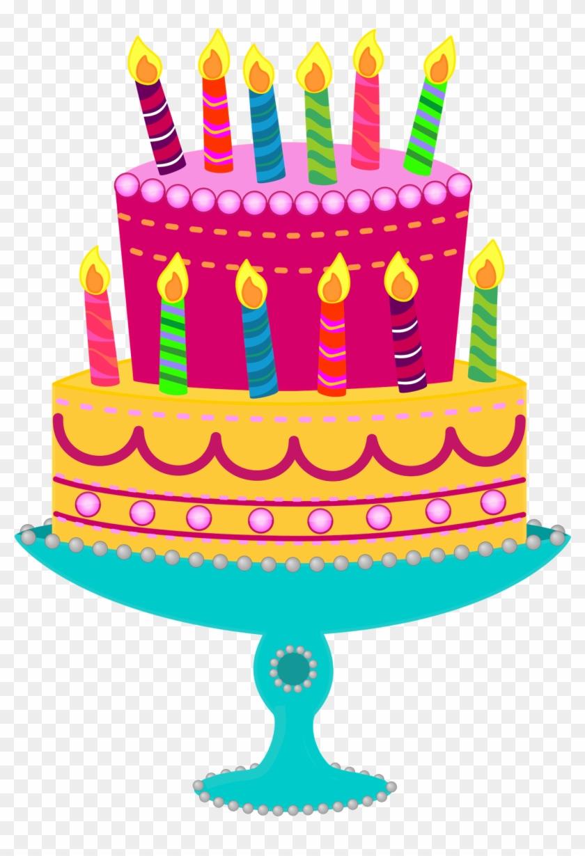Birthday Cake Clip Art Remarkable Happy Clipart Black - Tiered Birthday Cake Clipart - Png Download #385302