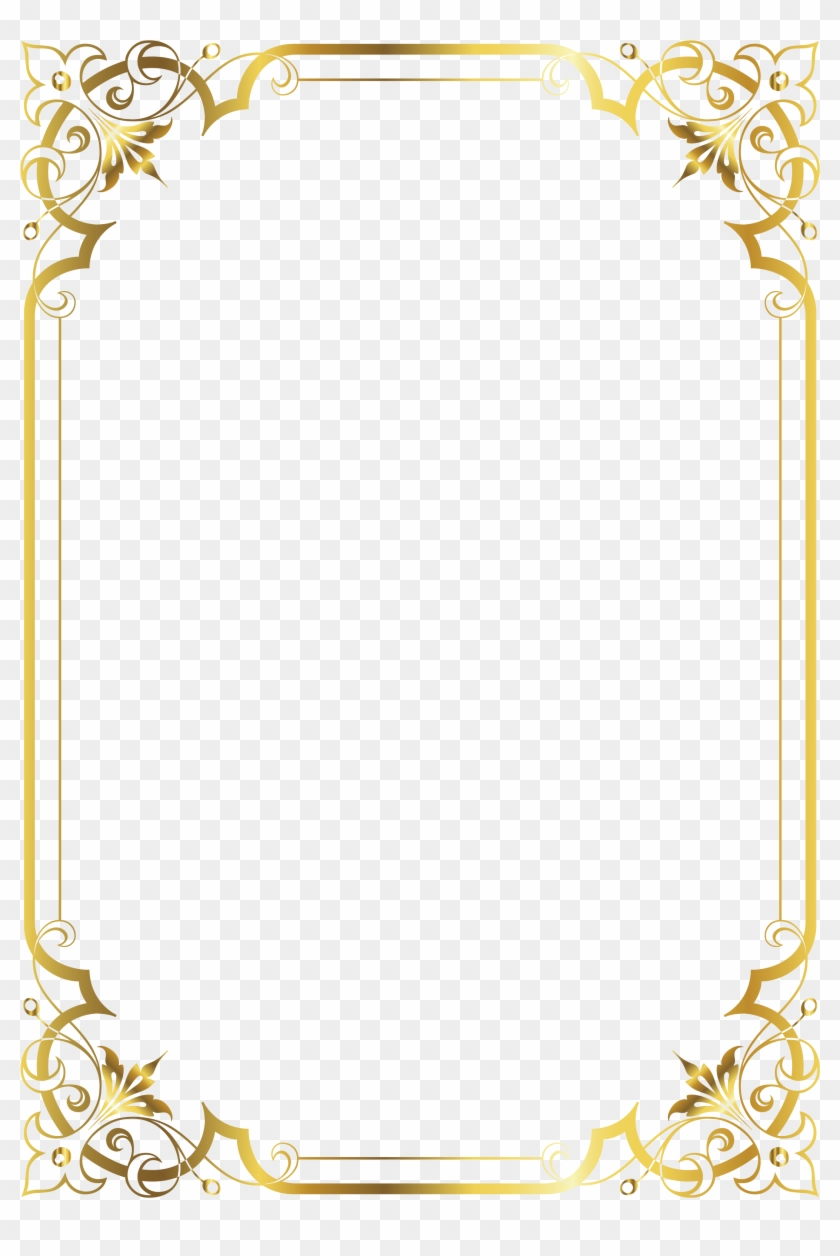 certificate border gold templates printable vector frame clipart pikpng
