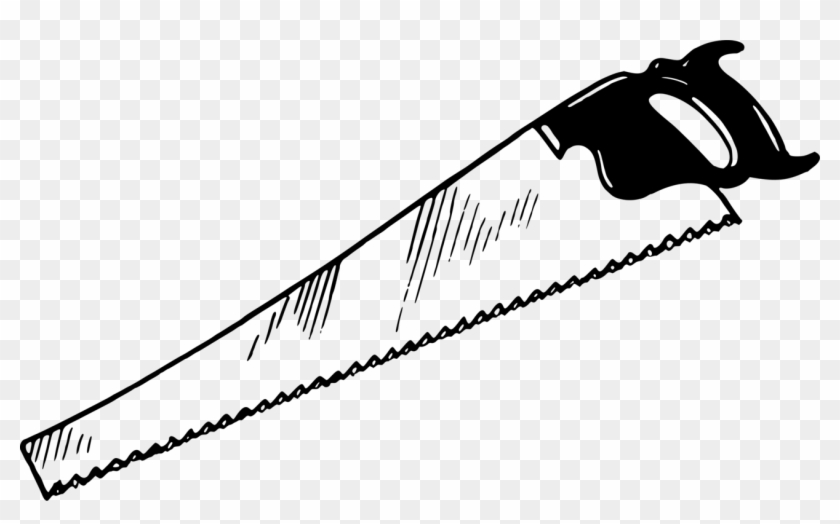 Crosscut Saw Hand Saws Hand Tool Drawing - Crosscut Saw ...