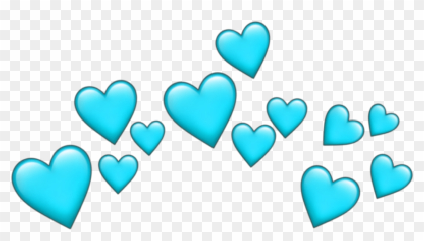 Crown Emoji Heart Tumblr Blue Pictures - Orange Emoji Hearts Png Clipart #387980